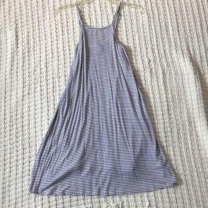 Summer striped flow dress
